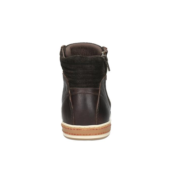 Pánské kotníčkové tenisky bata, hnědá, 844-4625 - 17