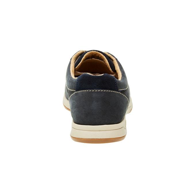 Pánská obuv z broušené kůže clarks, modrá, 826-9006 - 17