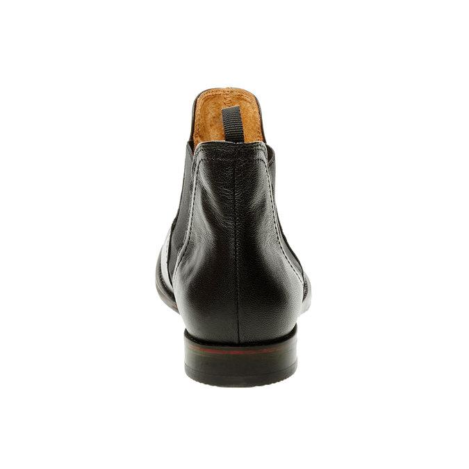 Dámské kožené Chelsea Boots bata, černá, 594-6267 - 17