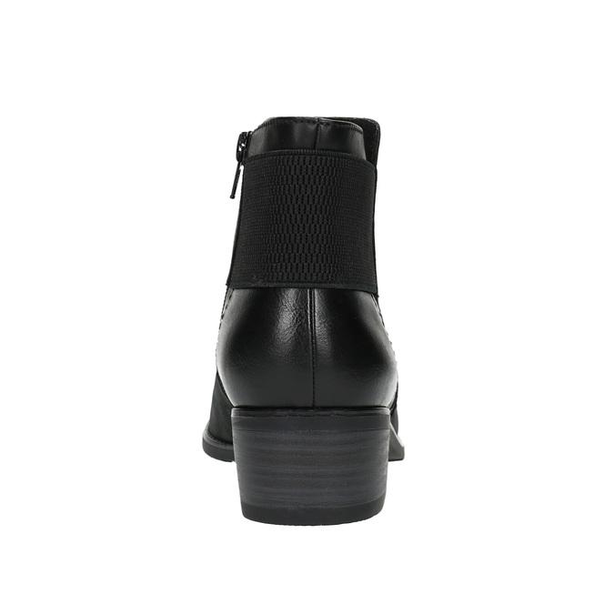 Dámská kotníčková obuv bata, černá, 696-6605 - 17