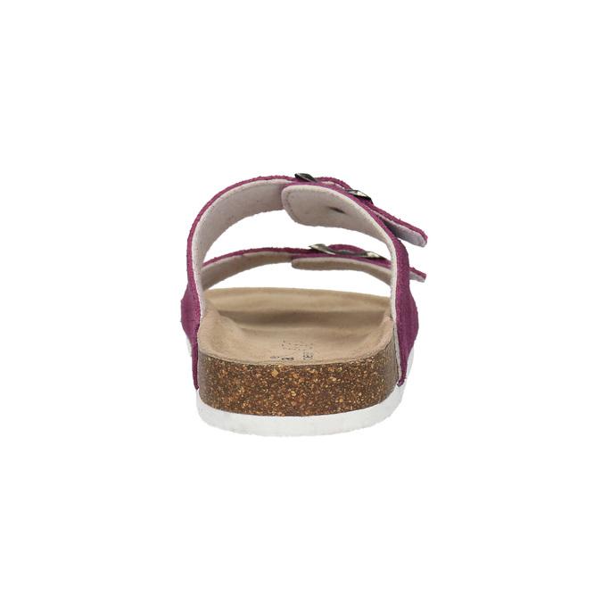 Dámské kožené pantofle de-fonseca, fialová, 573-5620 - 17