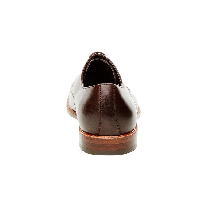 Kožené polobotky v Derby střihu bata, hnědá, 824-4551 - 17