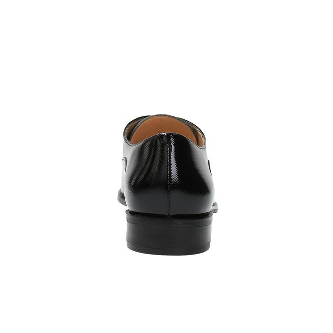 Dámské kožené polobotky bata, černá, 528-6631 - 17