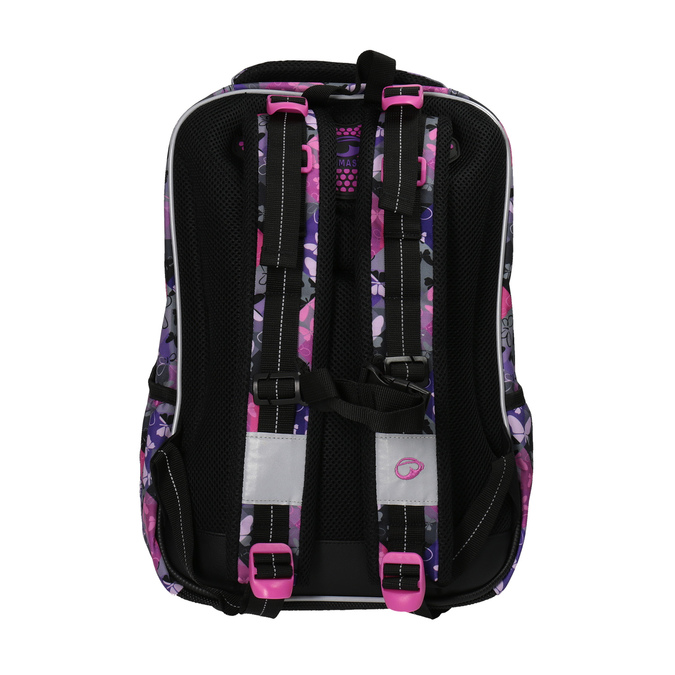 Školní batoh s motýlky bagmaster, fialová, růžová, 969-5607 - 26