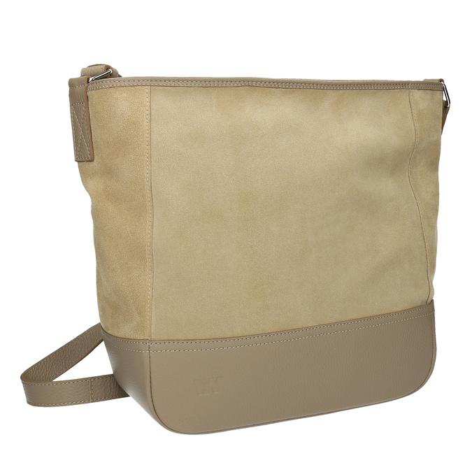Kožená kabelka s nastavitelným popruhem weinbrenner, béžová, 963-8190 - 13