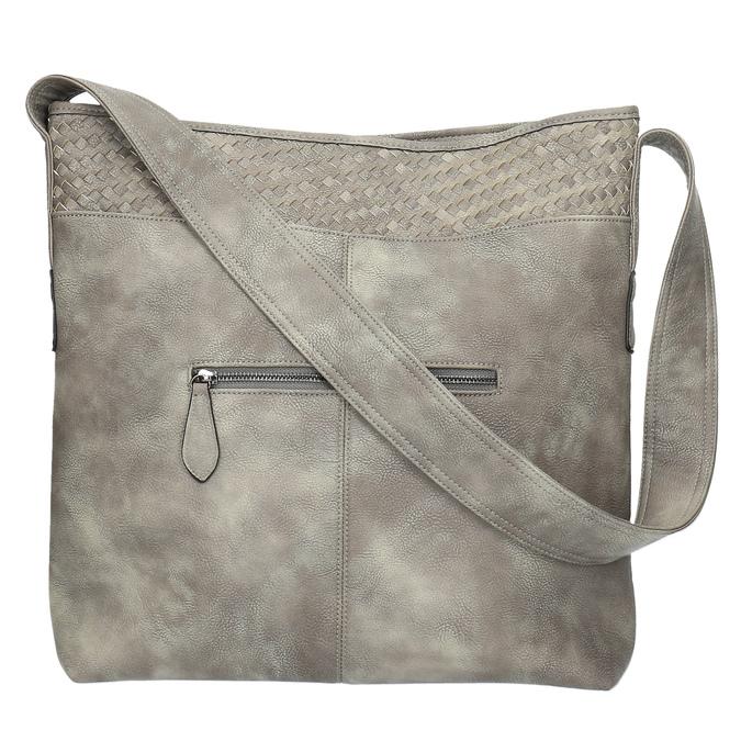 Šedá kabelka s dlouhým uchem bata, šedá, 961-2600 - 26