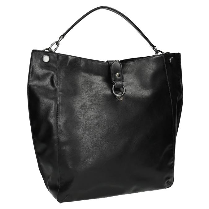 Černá kabelka v Hobo stylu bata, černá, 961-6808 - 13