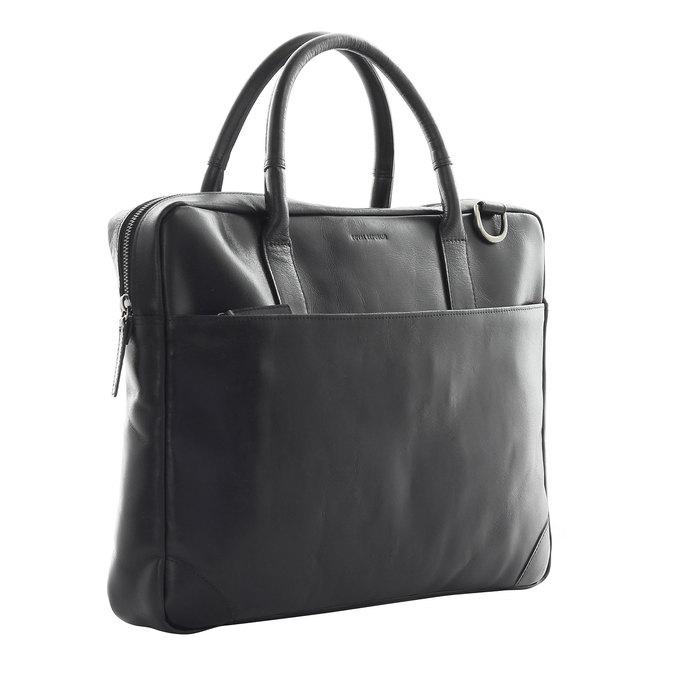 Kožená taška s popruhem royal-republiq, černá, 964-6199 - 13