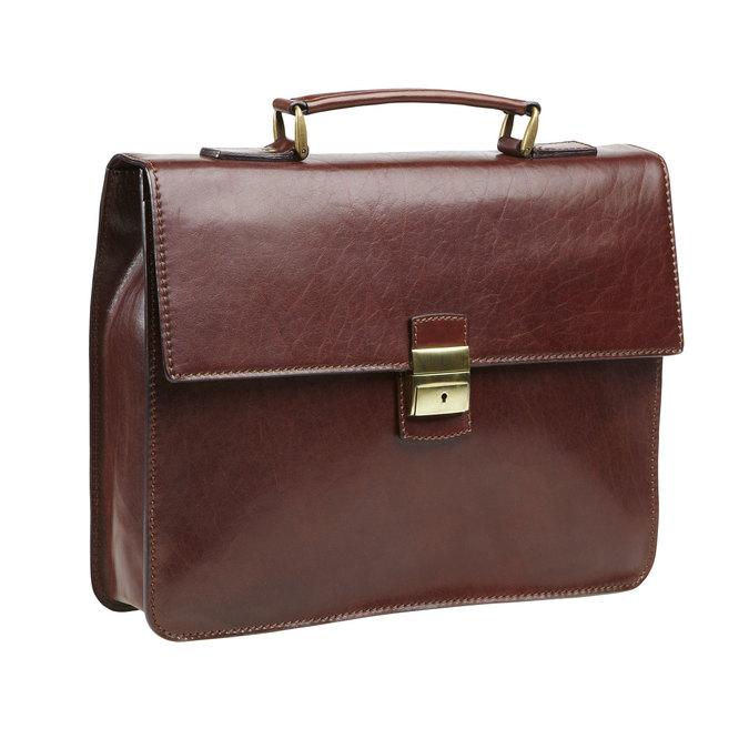 Pánská kožená taška elega, hnědá, 964-4155 - 13