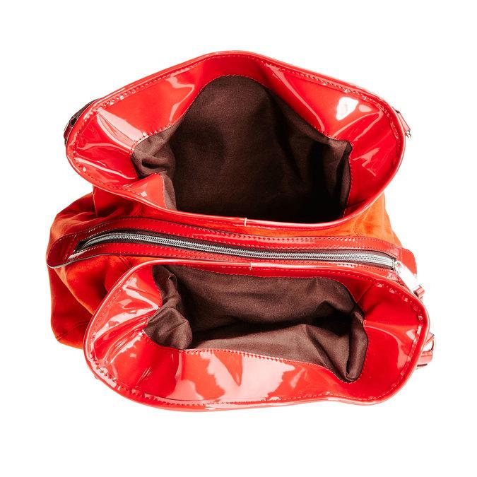 Červená dámská kabelka bata, červená, 969-5280 - 15