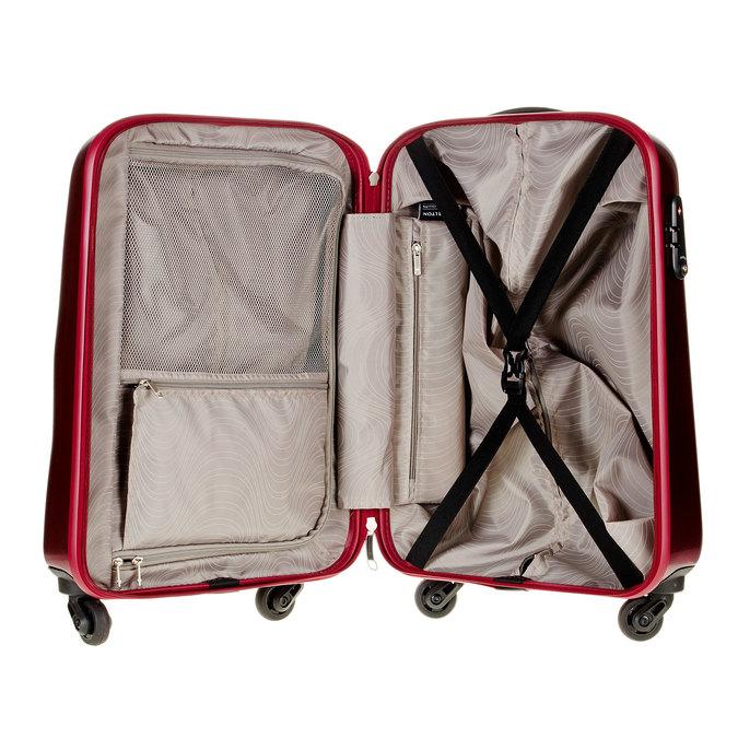 Skořepinový kufr na kolečkách carlton, červená, 960-5100 - 15