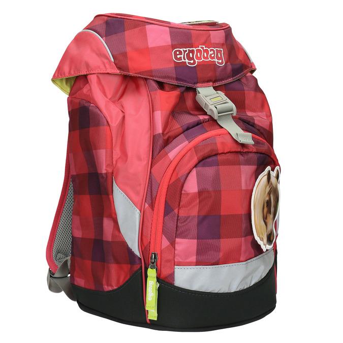 Dívčí školní batoh ergobag, červená, 969-5097 - 13