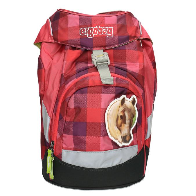 Dívčí školní batoh ergobag, červená, 969-5097 - 19