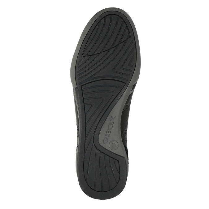 Kožené tenisky s prodyšnou podešví geox, černá, 824-6037 - 26