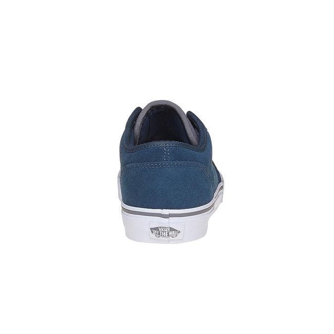 Kožené dětské tenisky vans, modrá, 403-9234 - 17