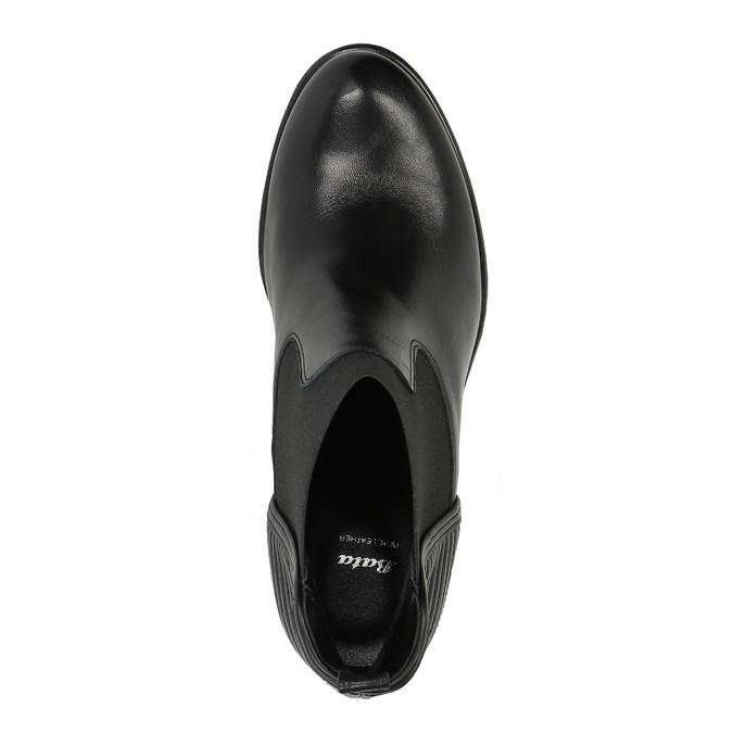 Dámská kotníčková obuv s prošíváním bata, černá, 694-6636 - 19