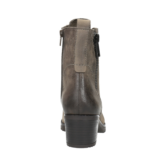 Dámská kotníčková obuv bata, šedá, 696-2604 - 17