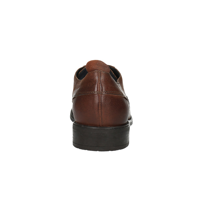 Pánské kožené polobotky v ležérním designu bata, hnědá, 826-4732 - 17