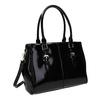 Černá kabelka v lakované úpravě bata, černá, 961-6619 - 13