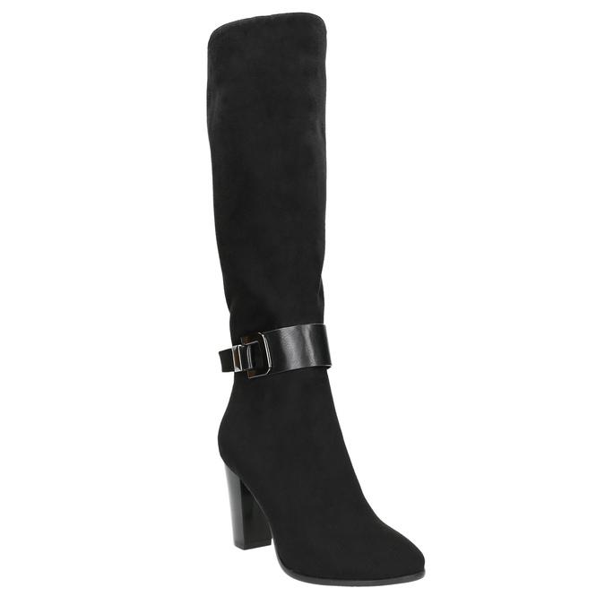 Dámské kozačky na podpatku bata, černá, 699-6631 - 13