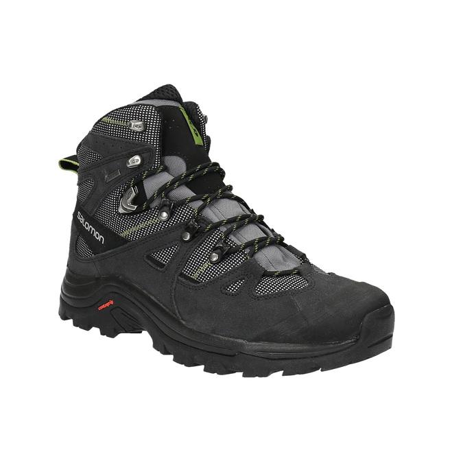 Kožená kotníčková obuv v outdoor stylu salomon, černá, 843-7052 - 13