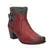 Dámská kotníčková obuv se zateplením bata, červená, 696-5617 - 13