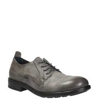 Pánské kožené polobotky v ležérním designu bata, šedá, 826-2732 - 13