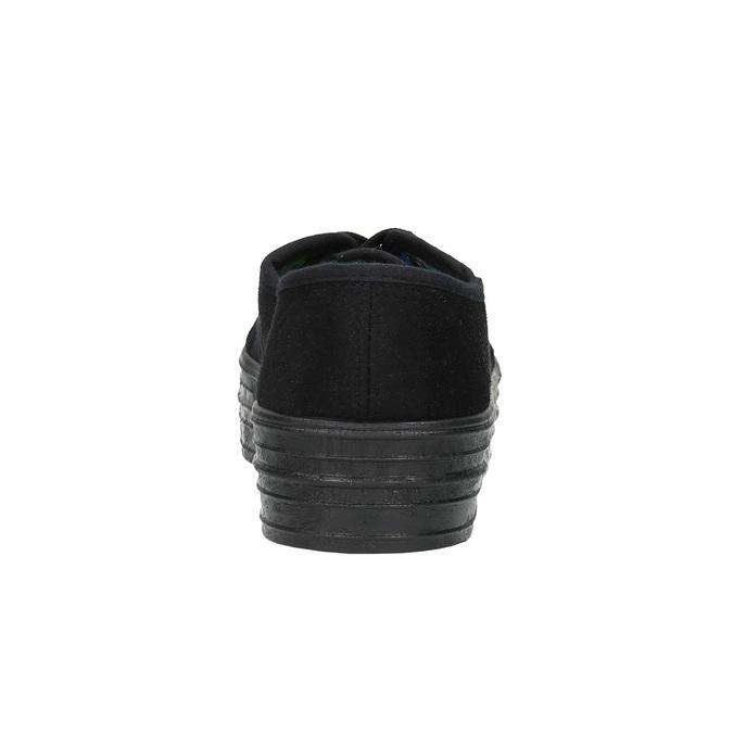 Černé tenisky se širokou podešví bata, černá, 529-6630 - 17