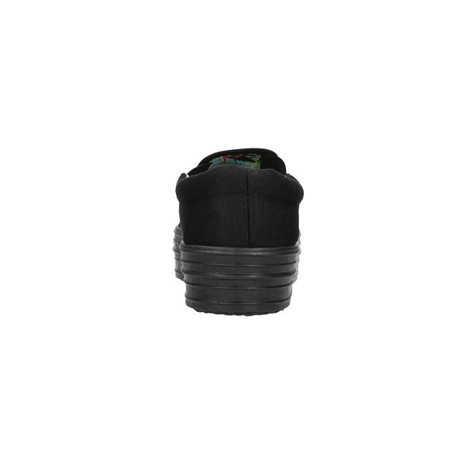 Černé Slip-on na široké podešvi bata, černá, 529-6631 - 17