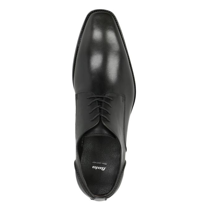 Pánské kožené polobotky bata, černá, 826-2646 - 19