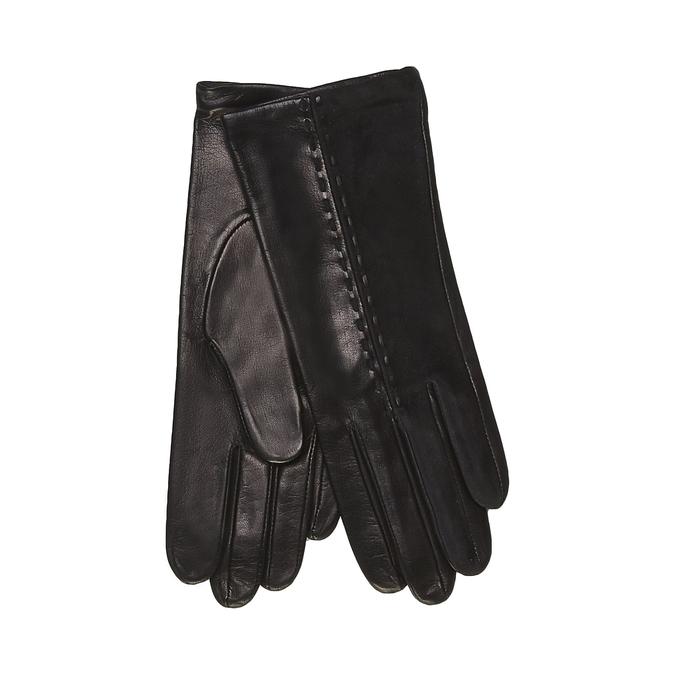Dámské kožené rukavice junek, černá, 924-6063 - 13