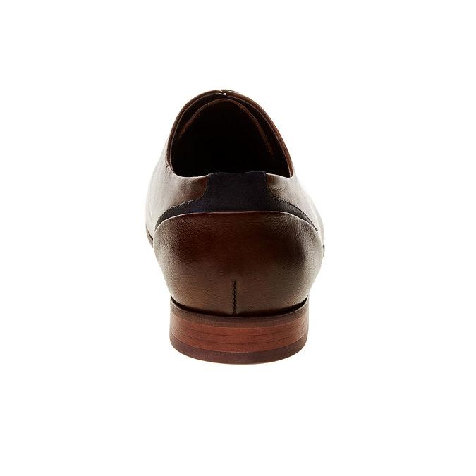 Kožené polobotky v Derby střihu bata, hnědá, 824-4538 - 17