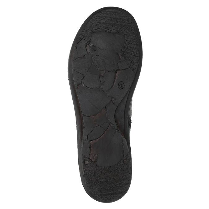 Dámské kožené tenisky bata, černá, 526-6601 - 26