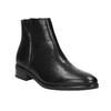 Kožená kotníčková obuv se zipem černá bata, černá, 594-6518 - 13