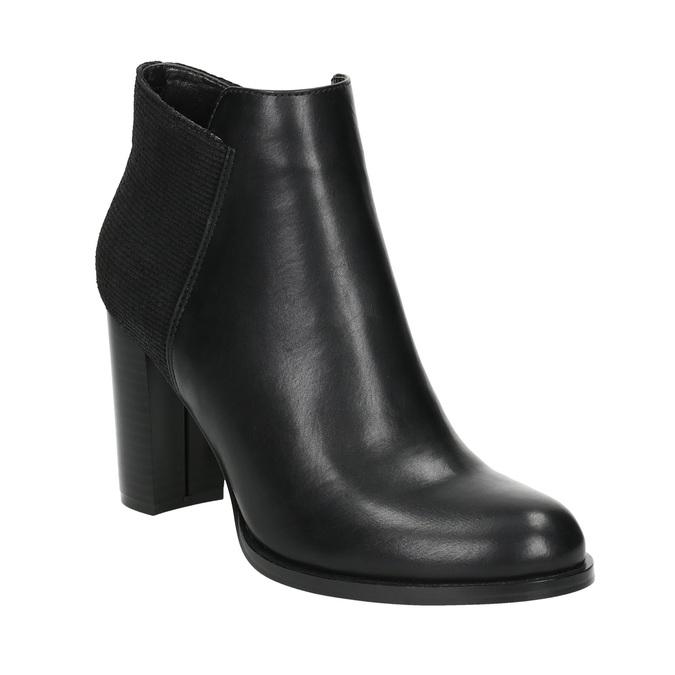 Kotníčkové kozačky na podpatku bata, černá, 791-6603 - 13