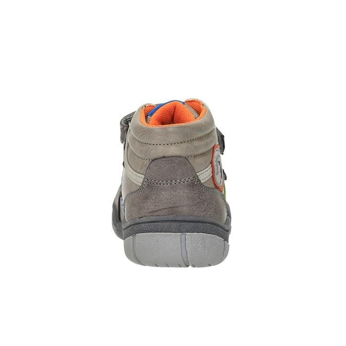 Dětská kotníčková obuv na suché zipy mini-b, hnědá, 211-2605 - 17