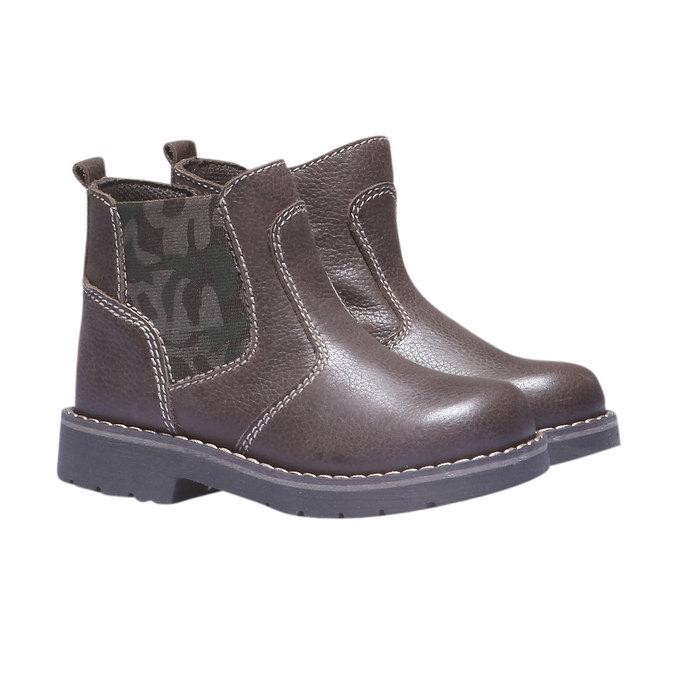 Dětské vysoké kožené boty mini-b, 2019-214-4137 - 26