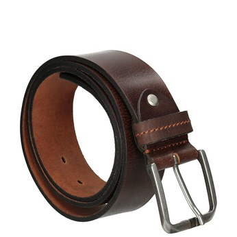 Hnědý kožený opasek bata, hnědá, 954-3106 - 13
