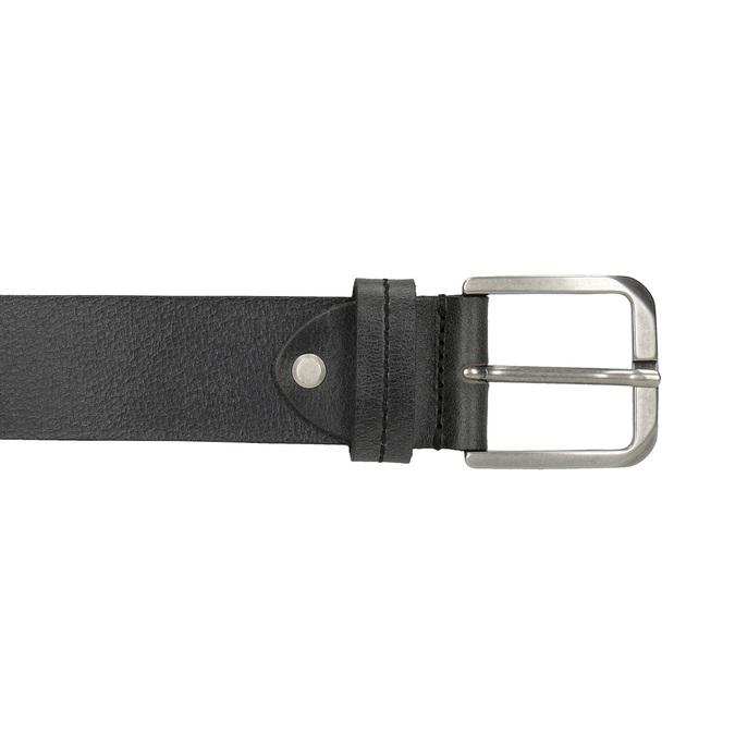 Černý kožený opasek bata, černá, 954-6106 - 26