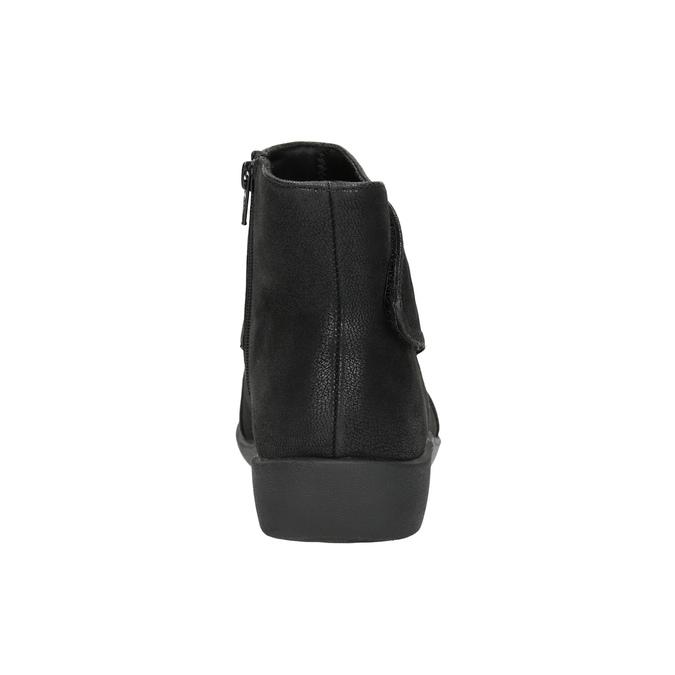 Kotníčková obuv s nařasením na nártu clarks, černá, 611-6006 - 17
