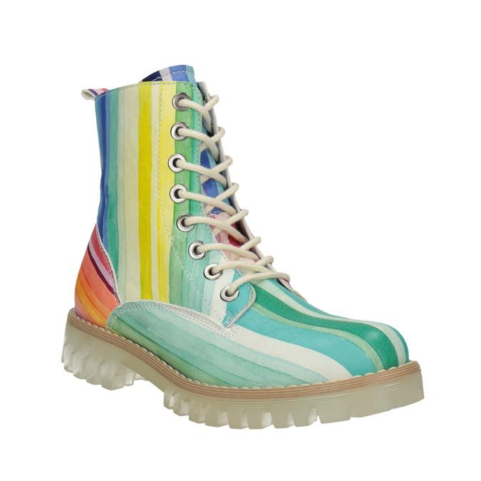 Barevná kotníčková obuv na průhledné podešvi weinbrenner, 596-3640 - 13