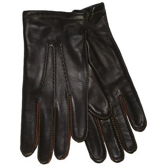 Pánské kožené rukavice junek, černá, 924-6031 - 13
