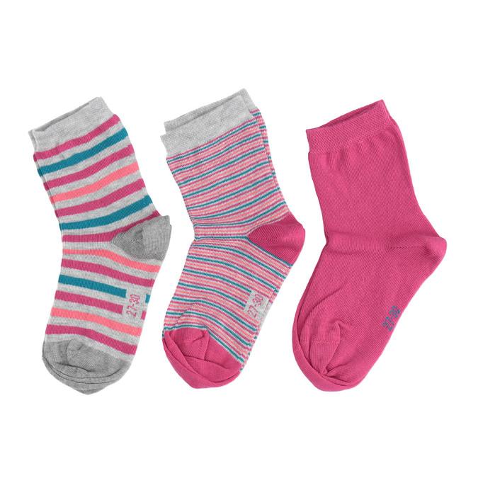 Dětské barevné ponožky 3 páry bata, 919-0491 - 26