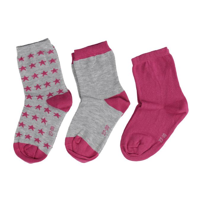 Dětské barevné ponožky 3 páry bata, 919-0492 - 26