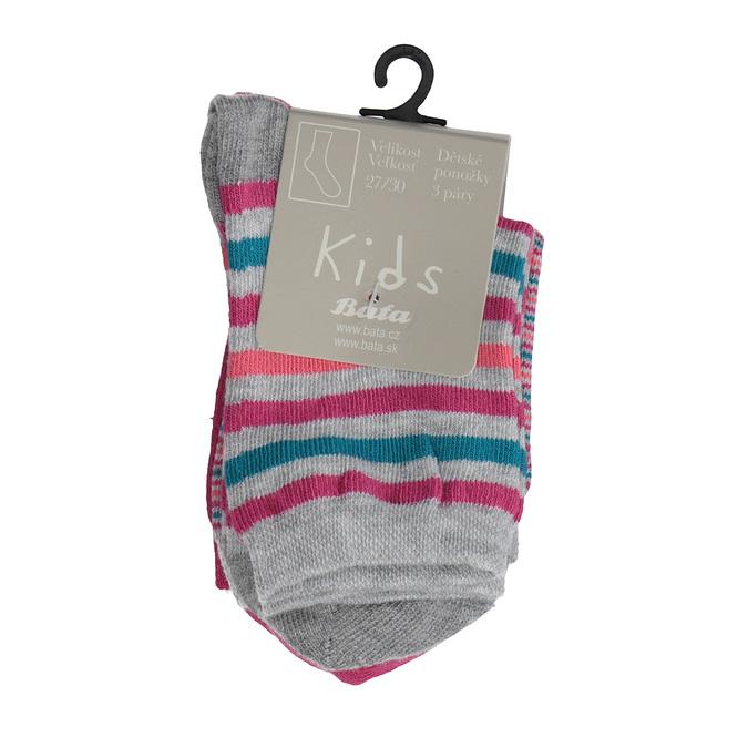 Dětské barevné ponožky 3 páry bata, 919-0491 - 13