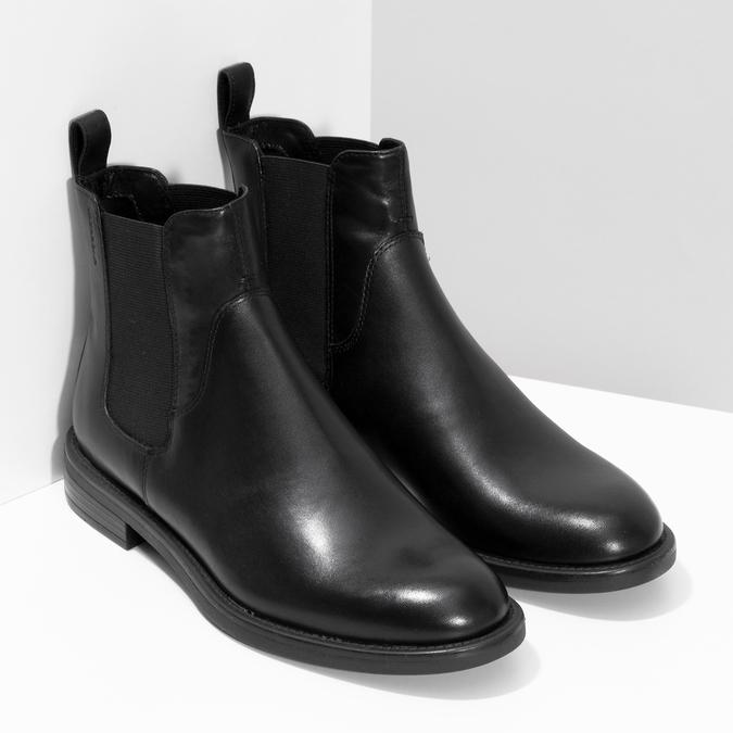 Dámské kožené černé Chelsea vagabond, černá, 514-6007 - 26