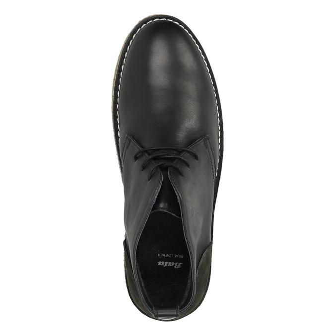 Kožené Chukka Boots bata, černá, 824-6665 - 19