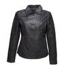 Dámská kožená bunda s límečkem bata, černá, 973-6107 - 13
