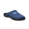 Dámská domácí obuv s výšivkou bata, modrá, 579-9603 - 13