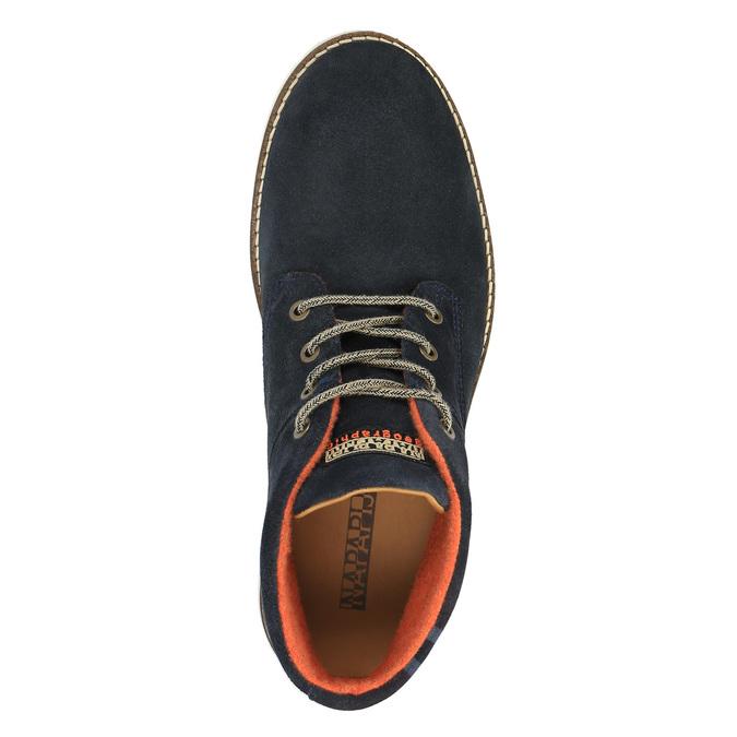 Kožená kotníčková obuv napapijri, modrá, 893-9003 - 19